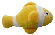 Clown Fish Catnip Toy (Yellow/White)