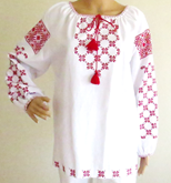 Long Sleeve Ladies Embroidered Blouse Kashtany