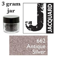 Pearl Ex Mica Powdered Pigments - 3g bottles - ANTIQUE SILVER 662
