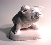 LM 1032 Pig Latex Mould/Mold for Plaster/candle/Soap/Concrete