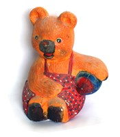 LM 1058 Bear with Ball Latex Mould/Mold for Plaster/candle/Soap/Concrete