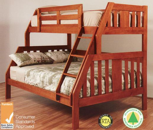Single Bunk Bed : Bunk bed double single SOLID NEW goingbunks.biz