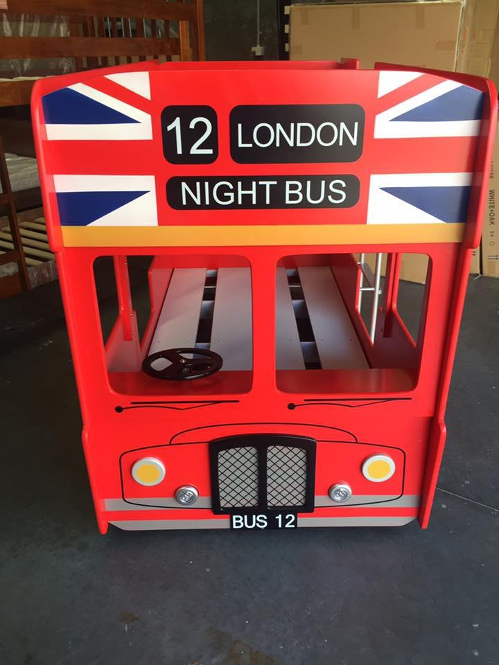 London Double Decker Bus Bunk Single Beds Limited Stock At