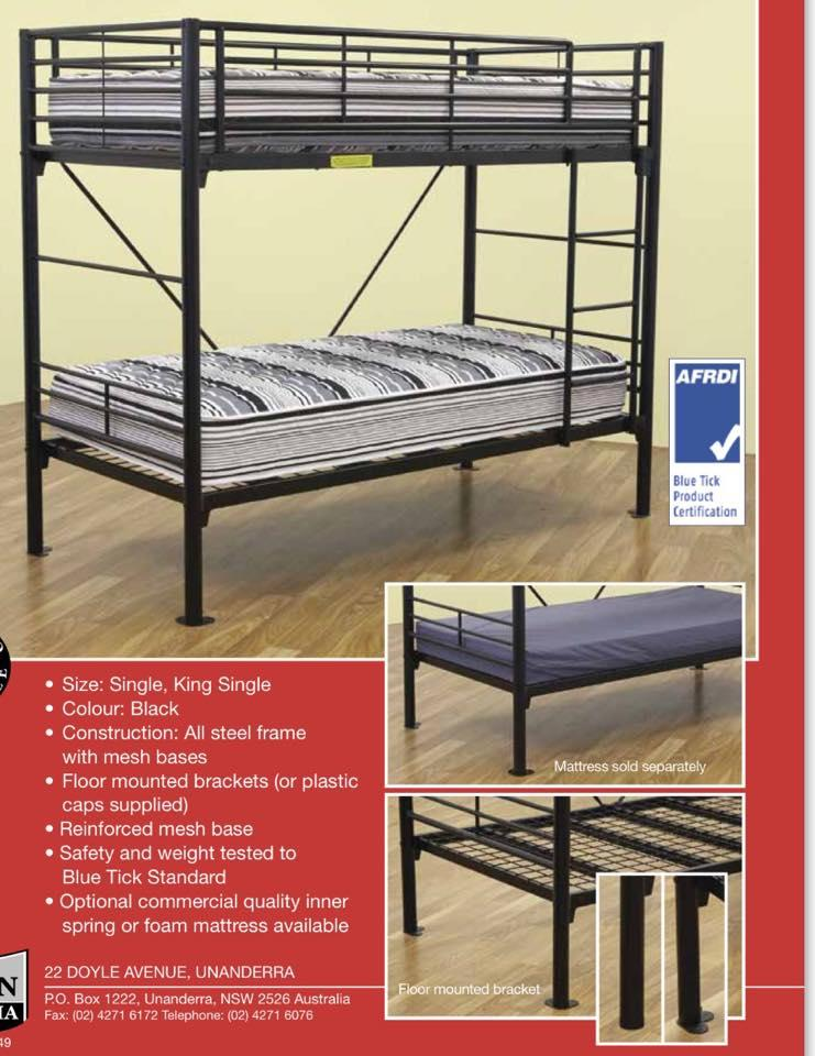 mattress king commercial. KING SINGLE COMMERCIAL USE BUNK METAL Mattress King Commercial