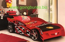 Car Bed King single SOLID Red New fibre glass front