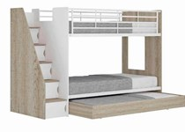 single bunk with pullout trundle and stairs case storage NEW DESIGN
