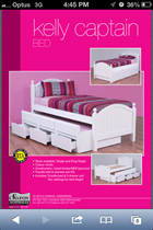 single bed with single Trundle bed  white with Drawers NEW