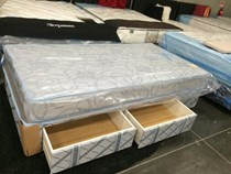 King single mattress and base with 2 x drawers 100 % AUSSIE MADE