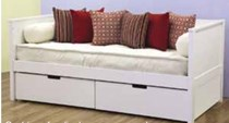 Day bed artic white with drawers new design